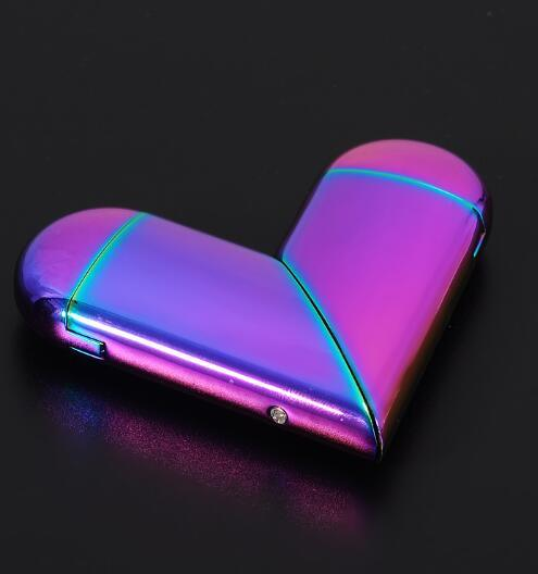 China Heart Shaped Wind-Proof Gas Electric USB Folding Rotation Lighter -  China USB Folding Rotation Lighter and Heart Shaped Lighter price