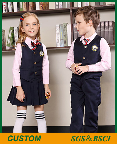 [Hot Item] Customized Pink Cotton School Uniform for Students