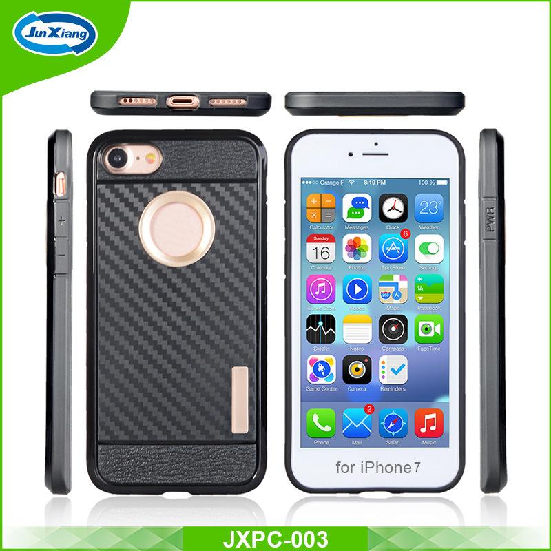 sale retailer 2d392 a0c05 [Hot Item] PC+TPU Heavy Duty Defender Slim Armor Shockproof Mobile Case  Cover for iPhone 7 Plus Carbon Fiber Back Phone Case
