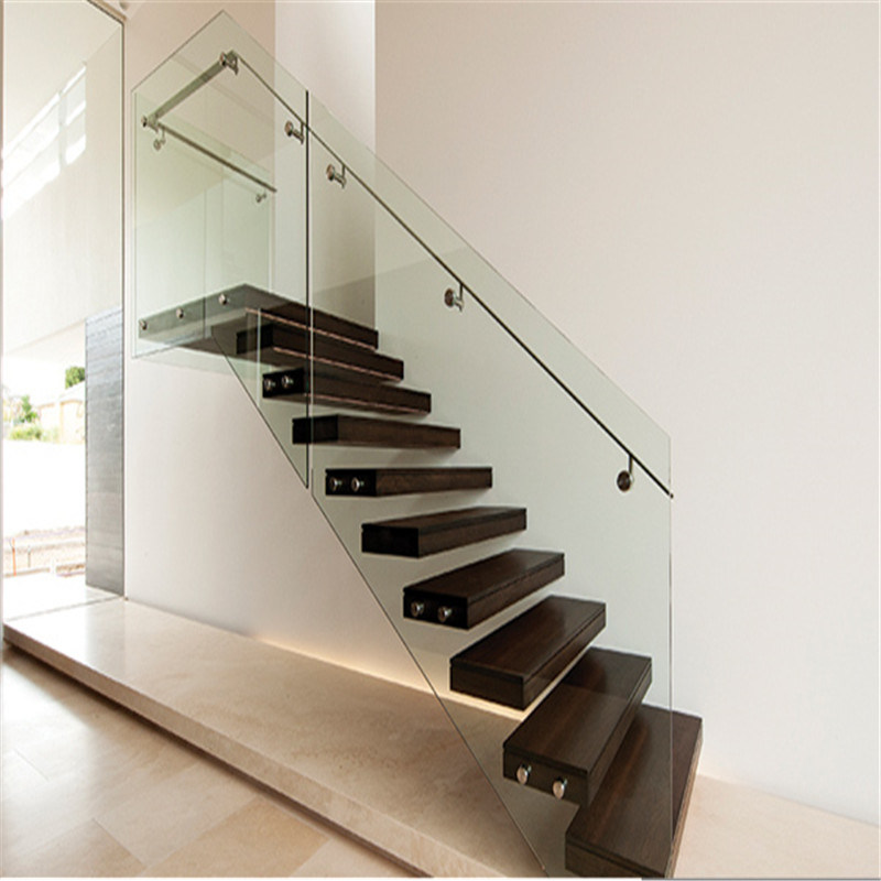 China Home Plan Prefabricated Floating Stairs Steel Wooden Stairs   China Wooden  Stairs, Floating Stairs