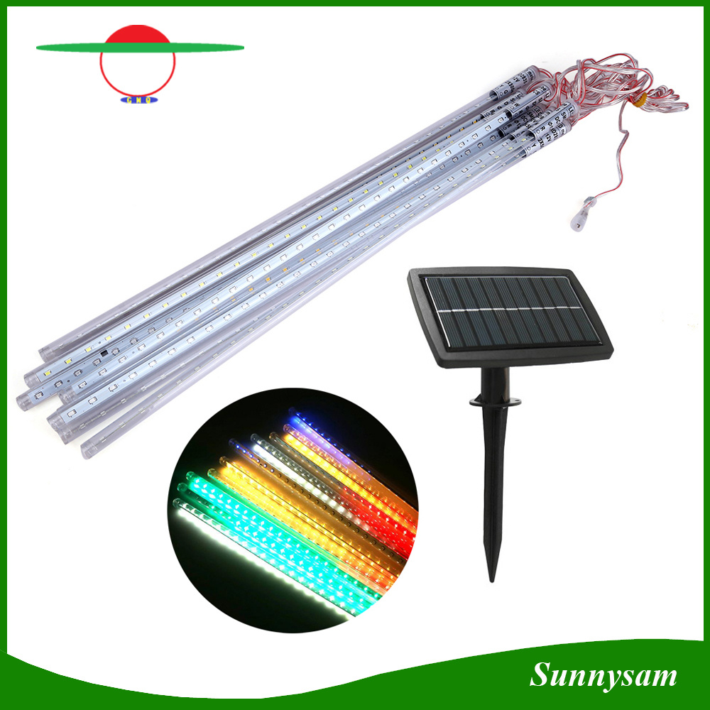China Solar Christmas Light Meteor Shower Rain Tubes LED ...