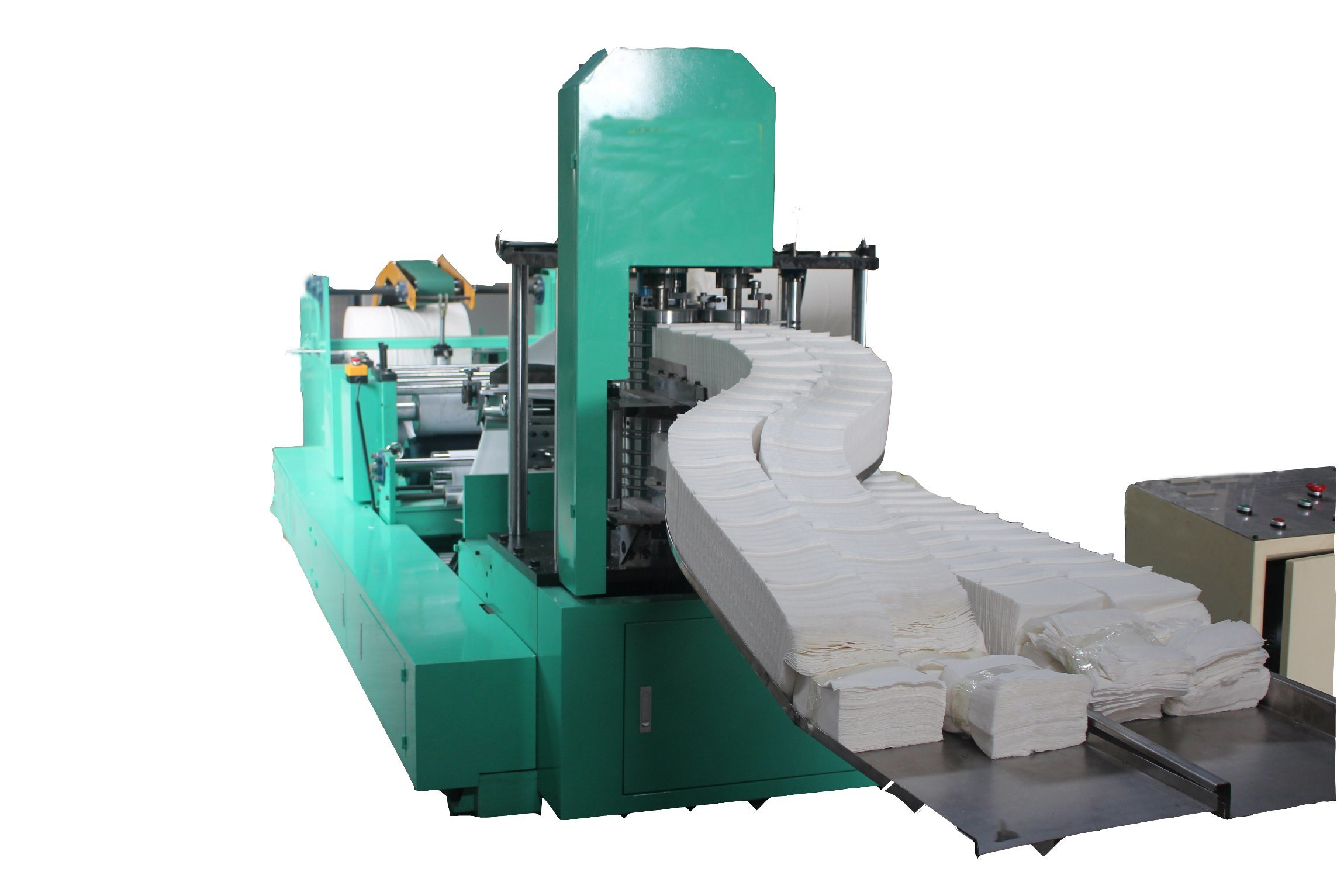 Fully Automatism Double Row Embossing Napkin Paper Folding Machine/Beverage Napkin pictures & photos