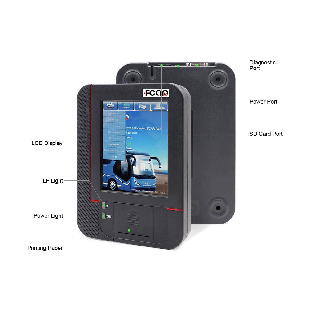 [Hot Item] Professional Truck Heavy Duty Diagnostic Tool Fcar F3-D with  Russian Language