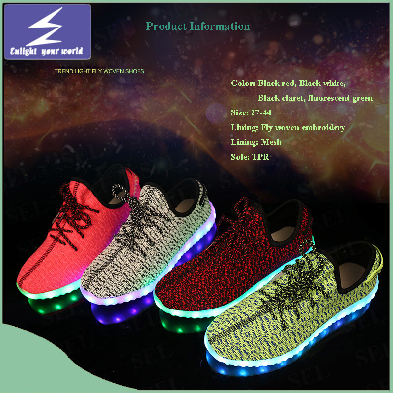 745209cde China Kids and Adults Yeezy Boost Flykint LED Light Shoes - China Shoes