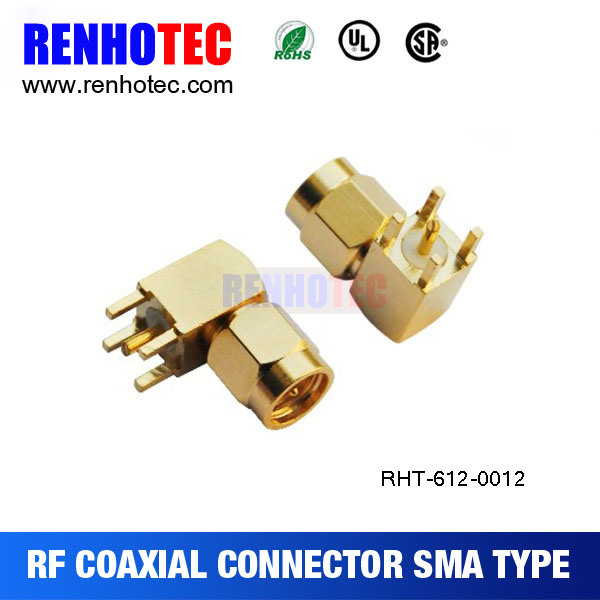 SMA Male Connector PCB Mount Connectors