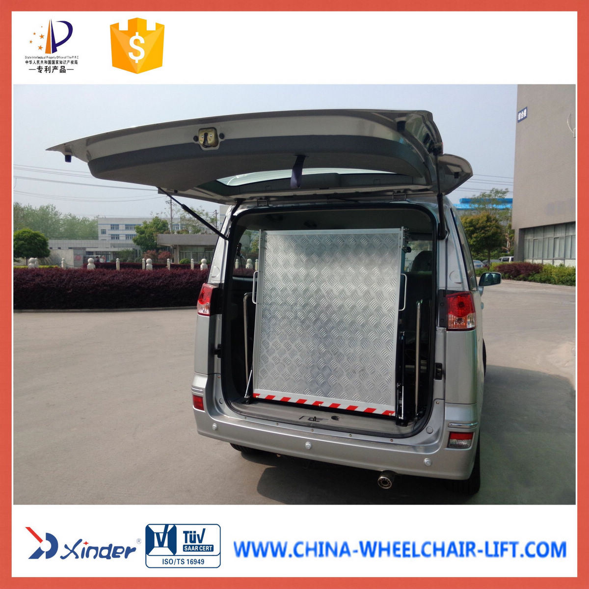 Manual Wheelchair Loading Ramp Loading 350kg pictures & photos