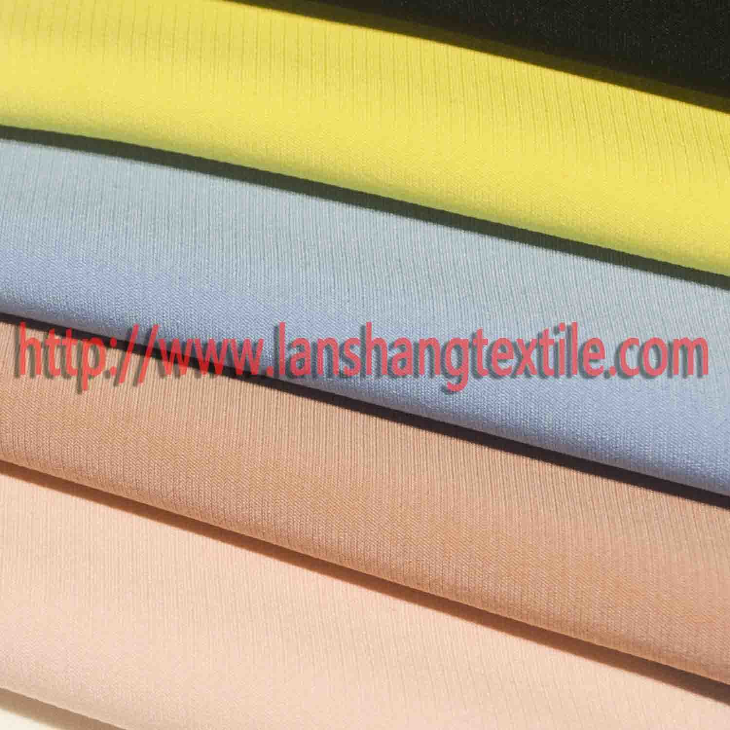Dyed Spandex Chemical Fiber Polyester Fabric for Woman Dress Coat pictures & photos
