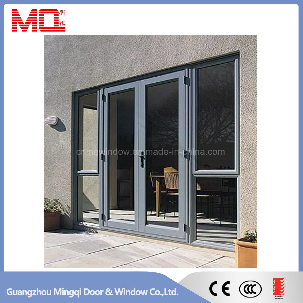 China main door design aluminum double swing door with window china swing door aluminum swing door