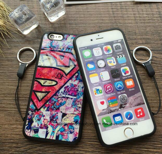 Cartoon Captain America for iPhone6/6 S Drop-Proof 6 Plus & 5 Se with Hang Rope Soft Shell Case pictures & photos
