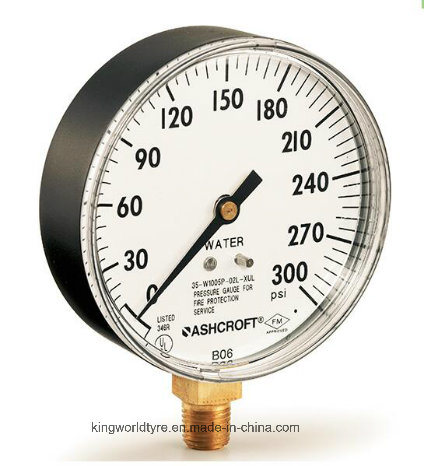 China Tyco Ashcroft FM UL 600psi Water Pressure Gauge