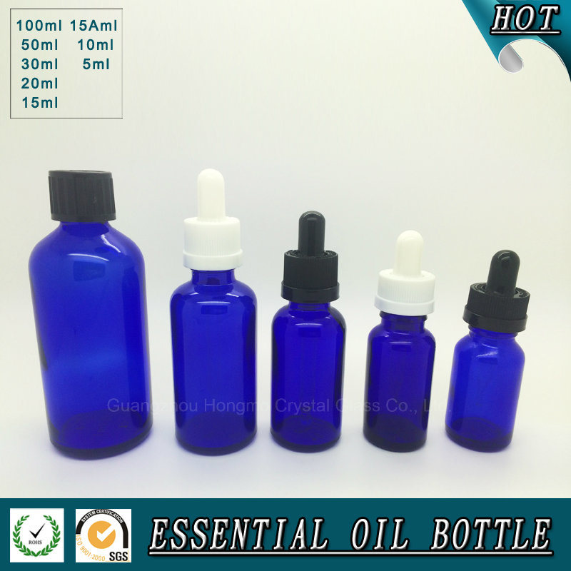 Cobalt Blue Glass Essential Oil Bottle 5ml 10ml 15ml 20ml 30ml 50ml  100ml pictures & photos