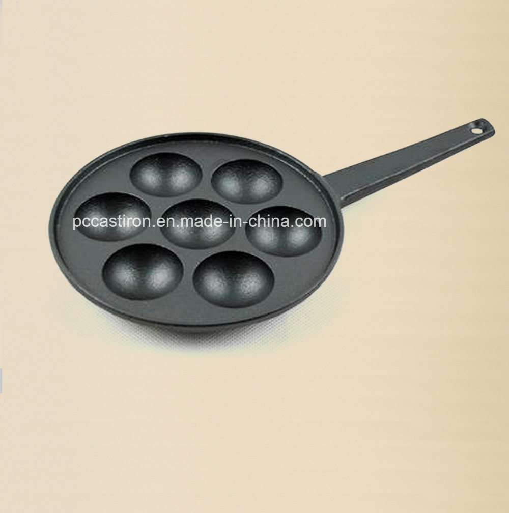 7PCS Cast Iron Pizza Pan with Handle Size 23cm pictures & photos