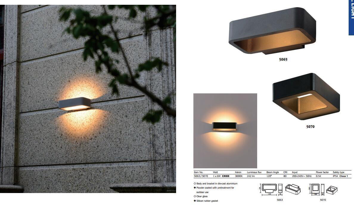Hot Item 6w Warm White Led Outdoor Garden Wall Light