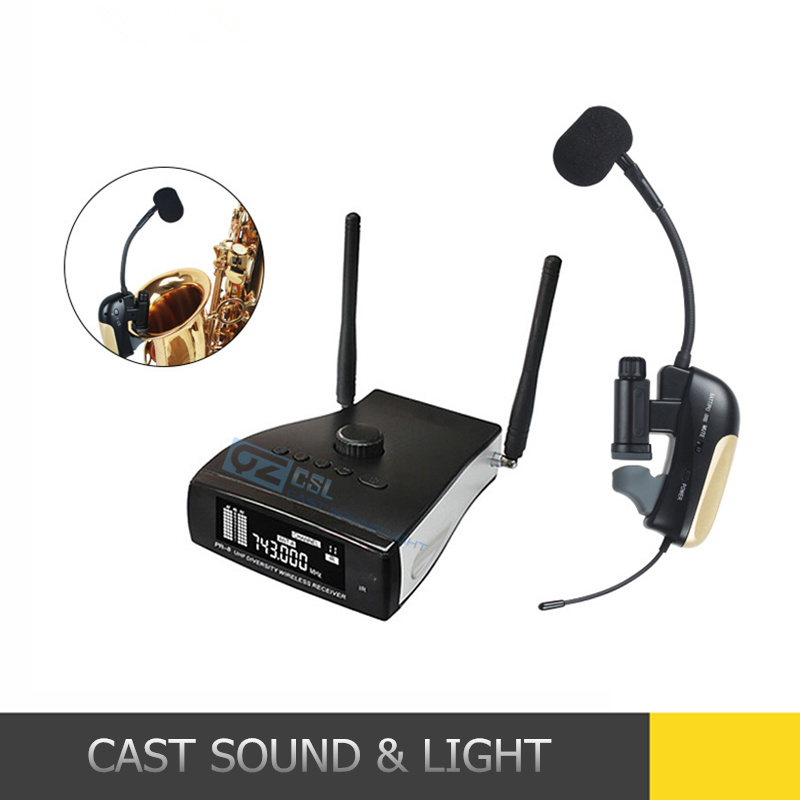 Saxophone Wireless Microphone System Musical Instrument Condenser Microphone for Saxophone pictures & photos