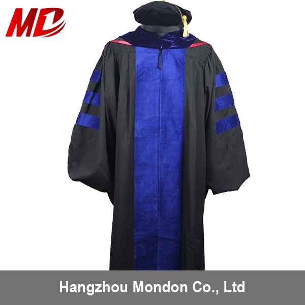 China Doctoral Graduation Gown Tam with Hood - China Doctoral ...