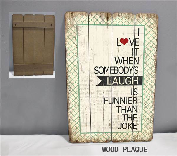 Hand Painted Wood Plaque Wooden Handicraft with Saying