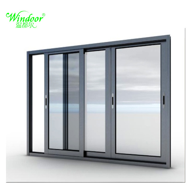 China Double Pane Insulating Gl Aluminum Sliding Window With Built In Lock