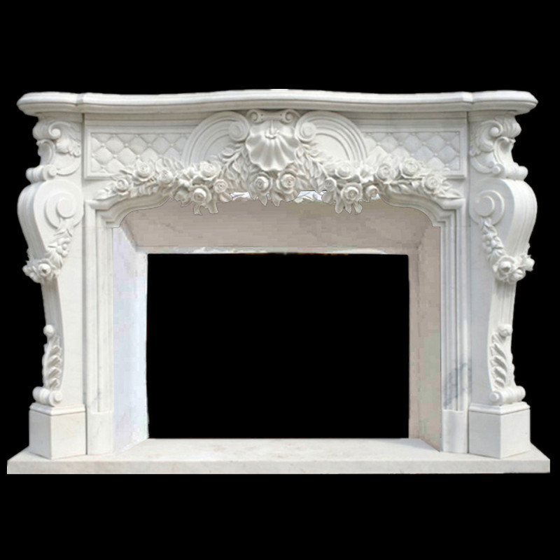 China Western Vintage Marble Freestanding Fireplace Mantel For Sale China Marble Fireplace Mantel Marble Fireplace
