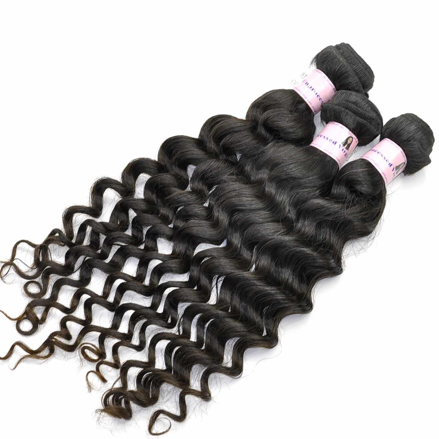 China 100 Deep Wave Virgin Indian Human Hair Extensions