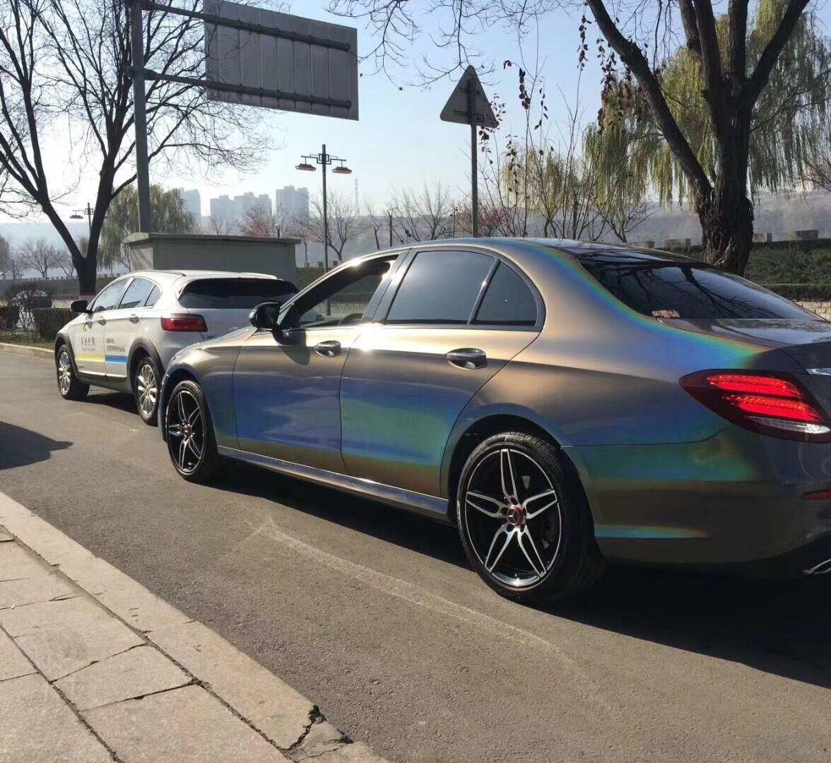 China Ts 1 52x18m Laser Chrome Car Vinyl Wrap Cost For Sale Photos