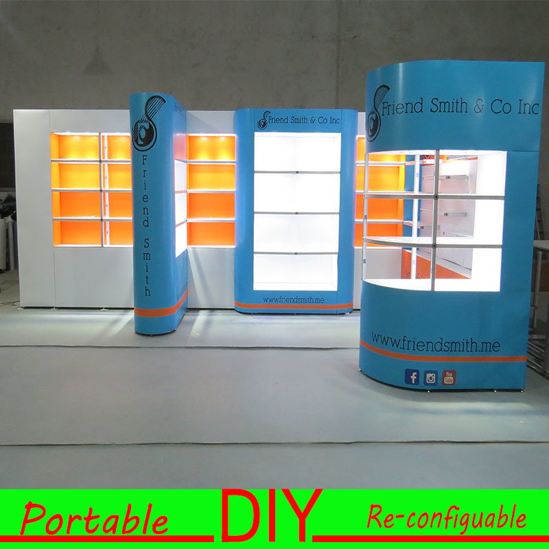 Portable Exhibition Display : China modular portable exhibition stand for trade show exhibition