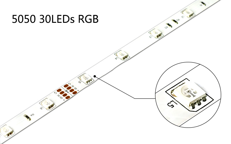 SMD 5050 RGB Flexible LED Color Changing Strips, UL Listed