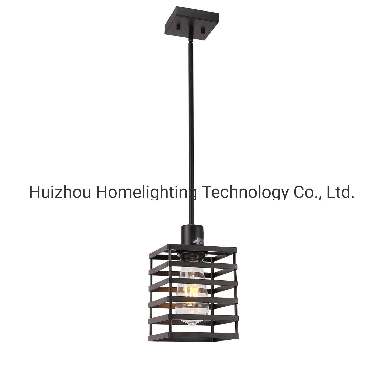 China Jlp 2020 Metal Cage Pendant Lighting Black