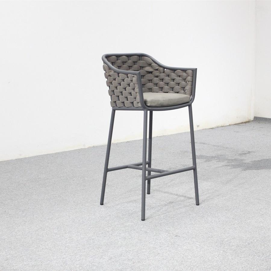 Fine Hot Item Outdoor Metal Base Rope Bar Stool High Chair Ibusinesslaw Wood Chair Design Ideas Ibusinesslaworg