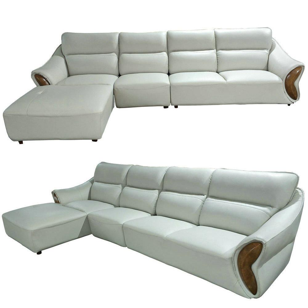 Color L Shape Genuine Leather Sofa