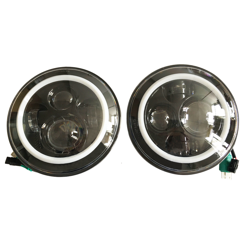 J022 LED Jeep Wrangler Headlights with LED Aperture, White Aperture Turned to Yellow Aperture pictures & photos
