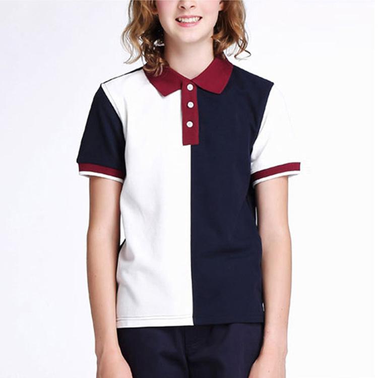 4ddc48db6 China New Design Custom Cotton School Uniform Girl Sport Polo Shirt ...