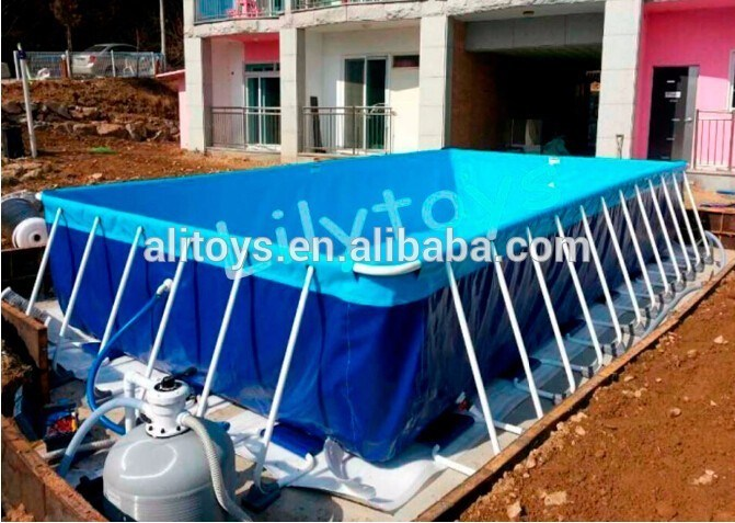 [Hot Item] Customized Collapsible Metal Frame PVC Swimming Pool for Water  Park Using