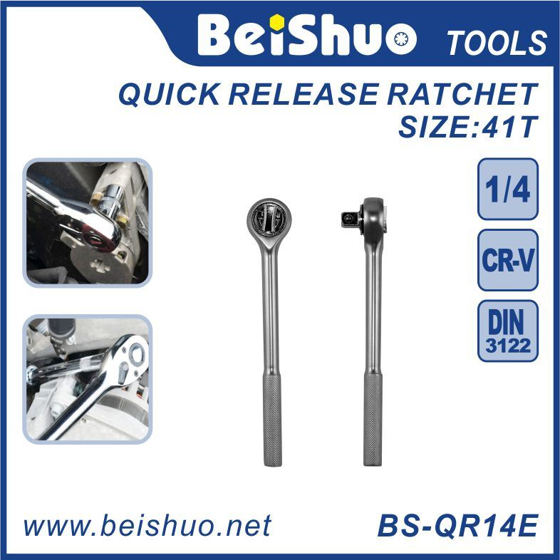 Full Polish Long Handle Standard Quick Release Ratchet Wrenches
