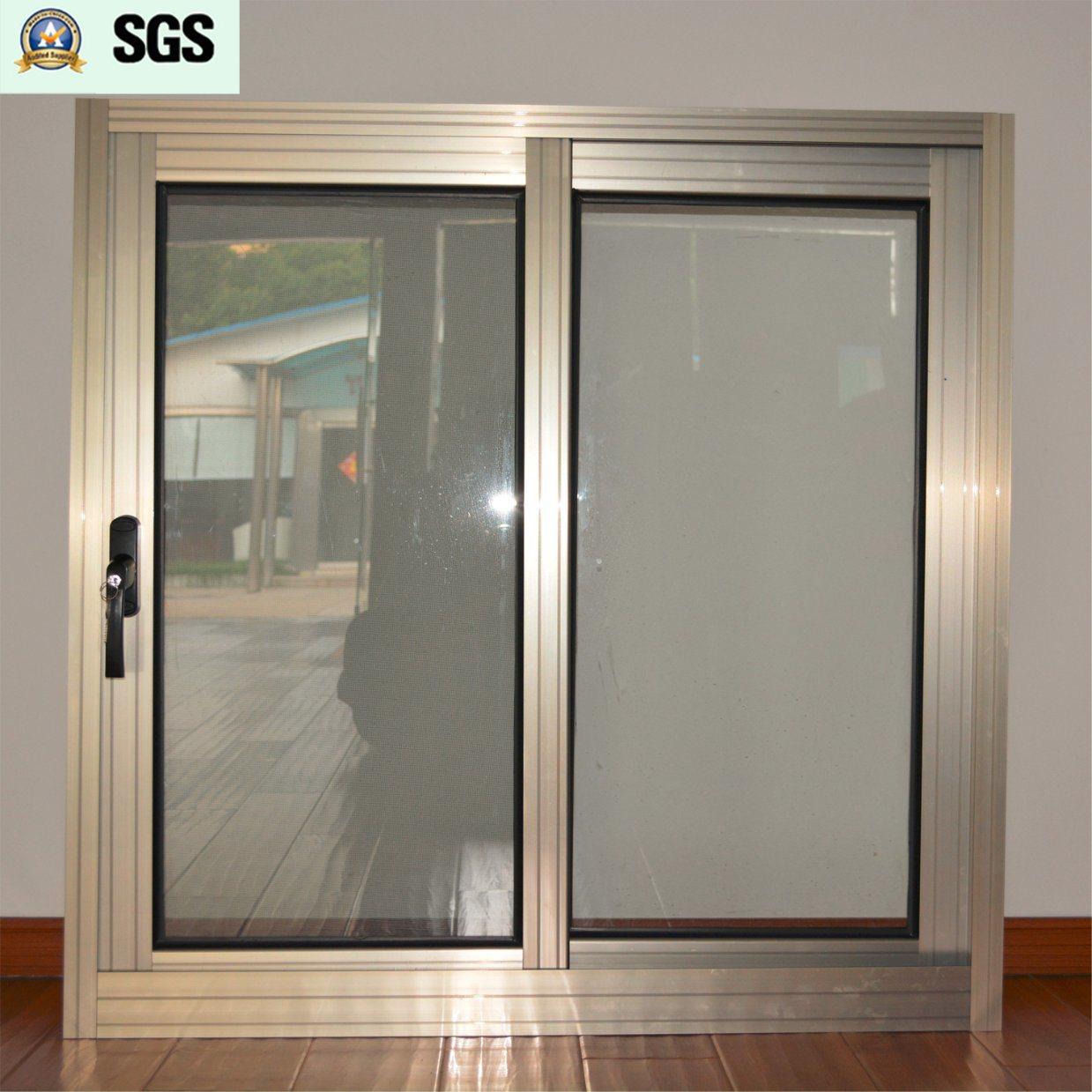 China Dark Handle With Key Anodized Aluminum Alloy Sliding Window Mosquito Net K01069
