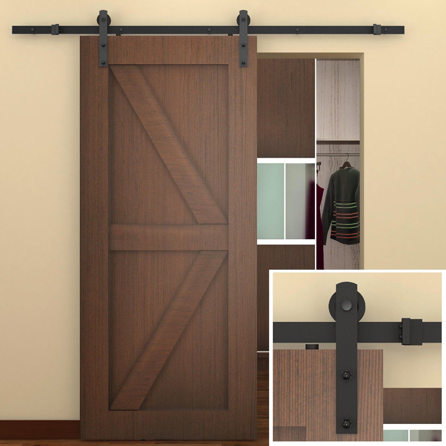 China Suppliers Carbon Steel Sliding Barn Door Hardware Zyc 03