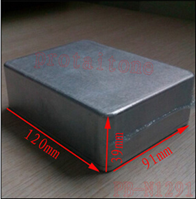 [Hot Item] Pb-N1291 Professional DIY Aluminum Metal Guitar Effect Pedal  Box, 120 (L) X91 (W) X39 (H) Mm