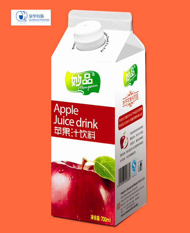 750ml Laminated Aseptic Juice Gable Top Carton Box pictures & photos