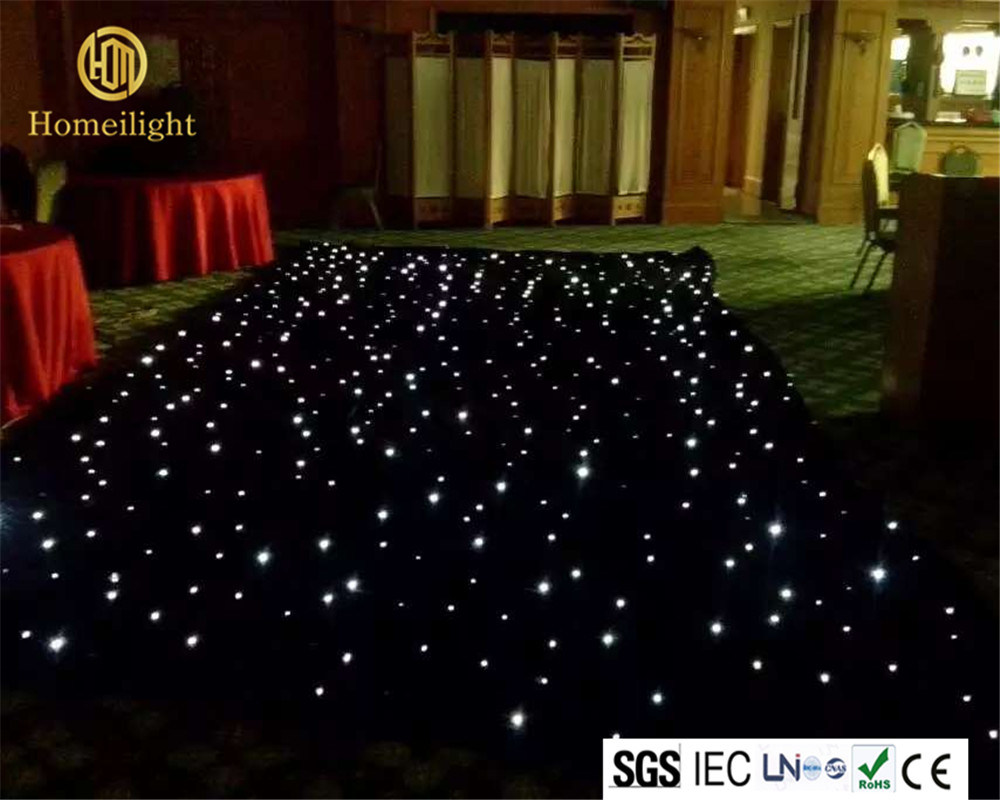 China 4 6m Led Lighted Stage Backdrop Curtain White Star