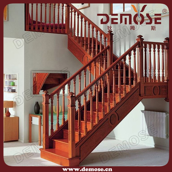 China Classic Solid Wood Staircase Design Dms S1010