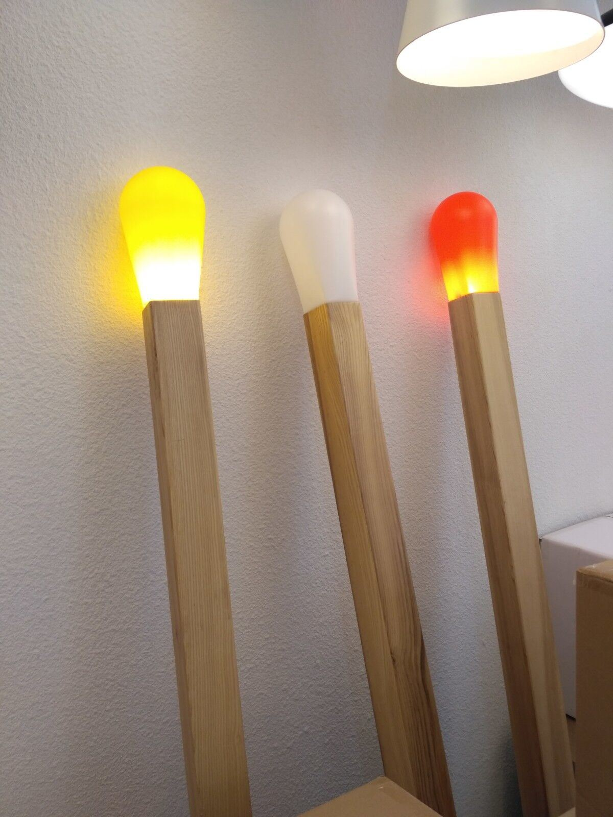 Fancy Wooden Floor Lamp Modern LED Decorative Standing Lighting