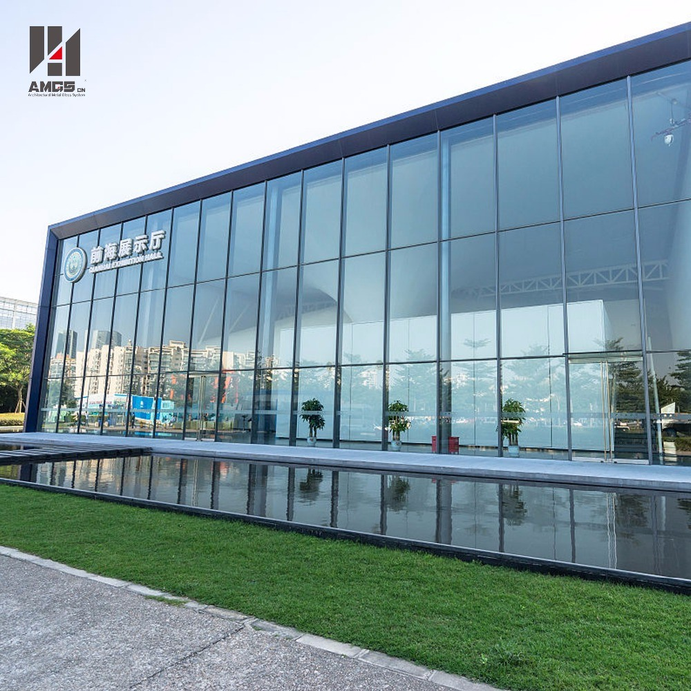 Exterior Facade Invisible Frame Reflective Blue Glass Curtain Wall Price pictures & photos