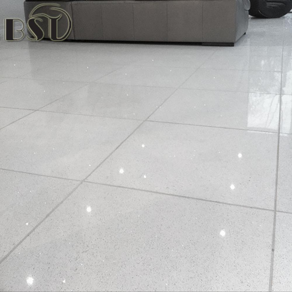 China Artificial Sparkle White Quartz Stone Tile for Stair, Floor ...