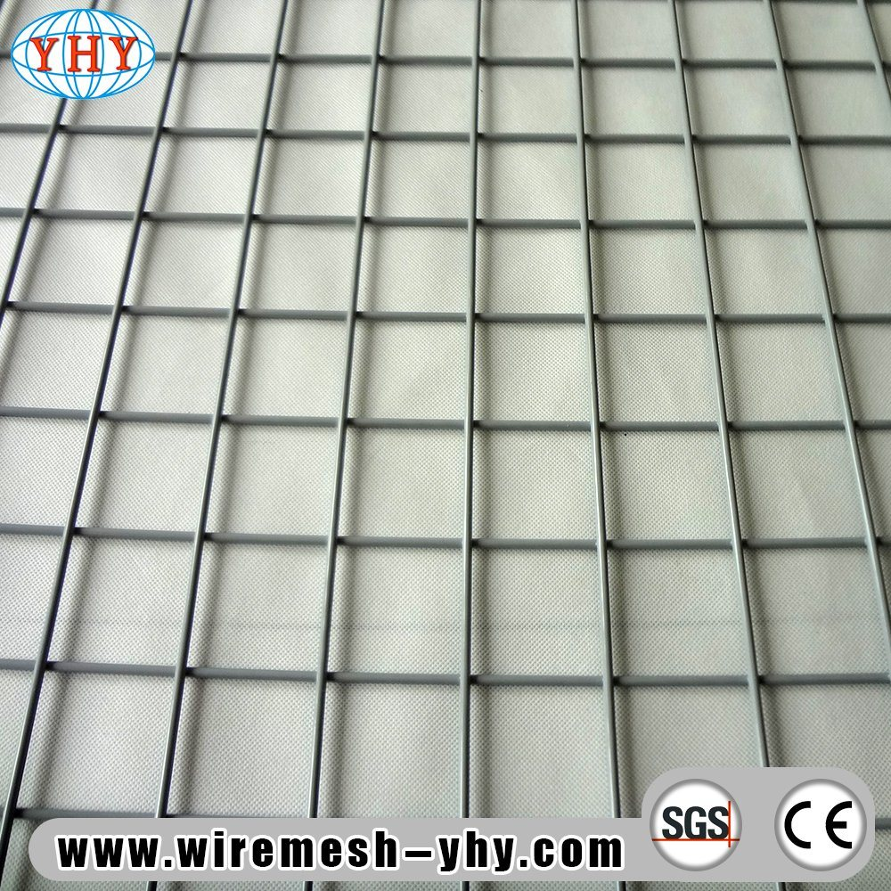 China 2X2 White PVC Coated Square Hole Euro Welded Metal Wire Fence ...
