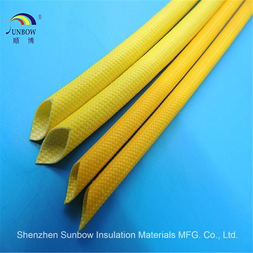 China Fiberglass Sleeving Coated Silicone Resin For Wire Harness Protection Cable