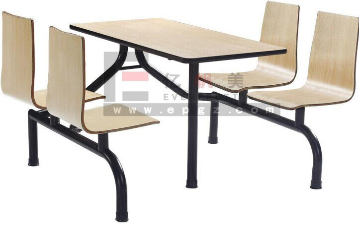 Restaurant Furniture/Restaurant Tables and Chairs/Fire Resistant Restaurant Table and Benches pictures & photos