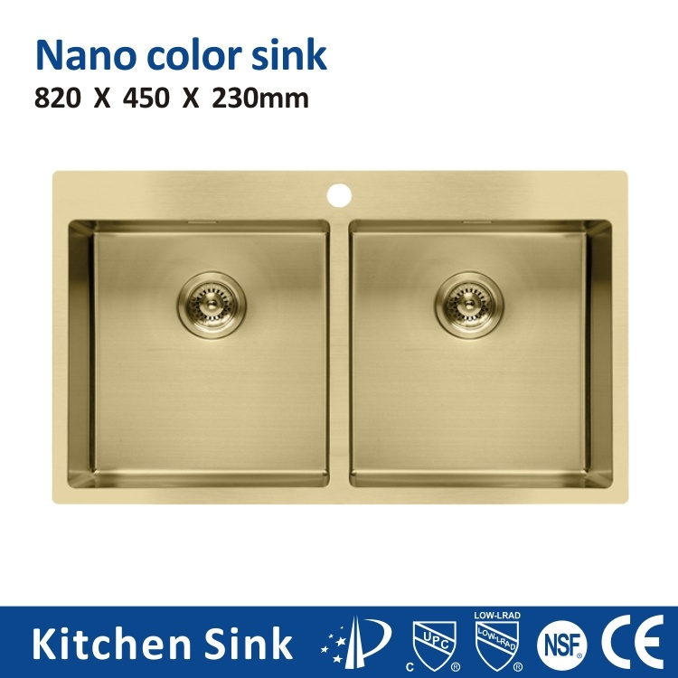 China South Africa Nano Process R20 2 3mm 30 Inch Big Sinks Built On Cabinet One Two Wash Bowl Stainless Steel Sink For House Industrial With Trash Can Kitchen Sink China
