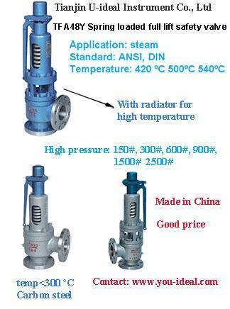 China Full Lift Spring Loaded Steam Boiler Safety Valve