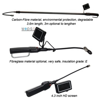 Video Camera with 5.6m Adjustable Pole for Manhole Inspecting pictures & photos
