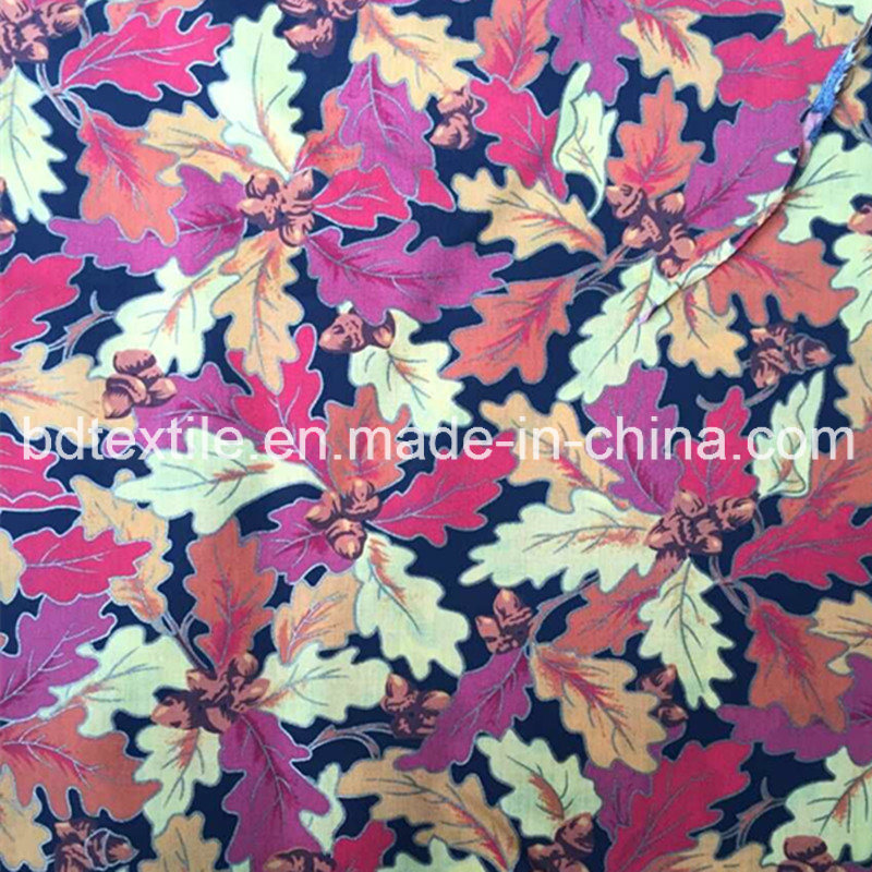[Hot Item] Silver Printing Leaves Design Fabric for Packing