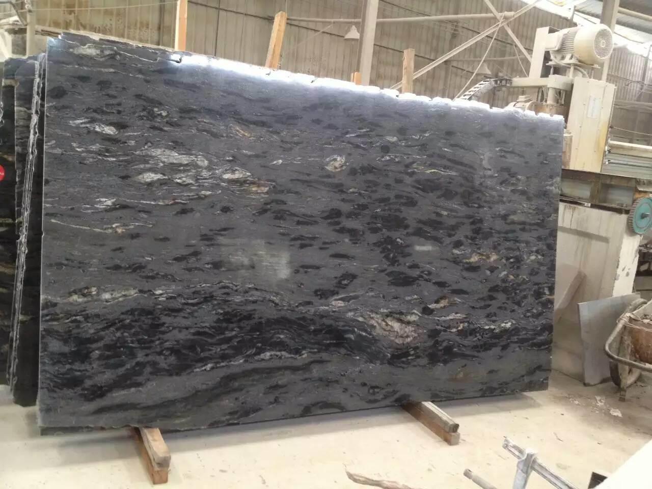 China Cosmic Black Titanium Granite Slabs For Kitchen Countertops Bathroom Countertops China Black White Granite Nero Fantasy